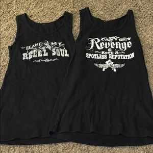 Tops - Set of 2 - black tanks.